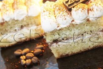 Кофейное бисквитное пирожное