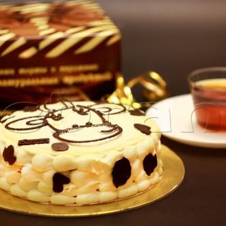 """Бисквитный торт """"Коровка"""""""