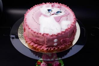 Детский торт для девочки с котёнком