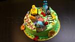 """Детский торт """"Паровозики"""" фигурки"""