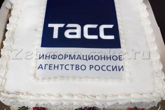 """торт с логотипом для информационного агентства России """"ТАСС"""""""