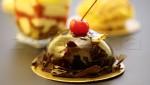 """Пирожное """"Шоколадный мусс с вишнёвым компоте"""""""