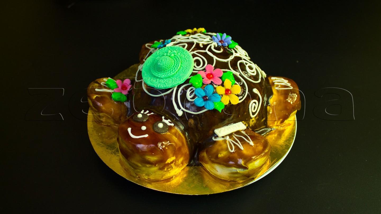 """Детский бисквитный торт """"Черепашка"""""""