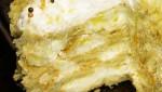 Торт с белковым кремом Наполеон