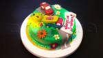 """Детский торт для мальчика """"Автопарк"""""""