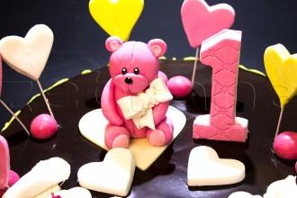 Шоколадный детский торт  с медвежонком
