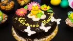 Пасхальное оформление торта