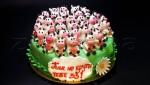 """Праздничный торт """"С 33-летием!"""""""