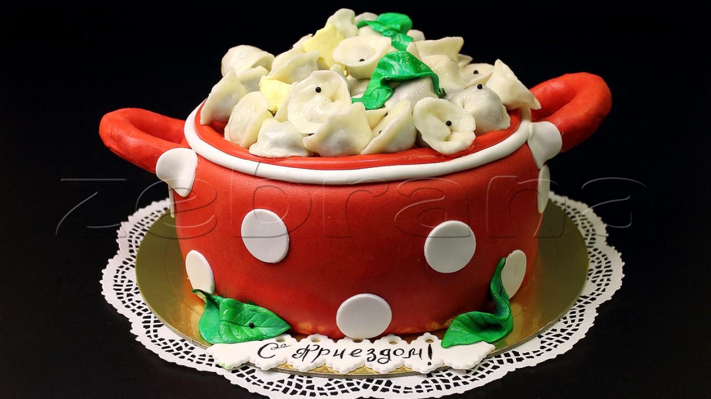 Праздничный необычный торт