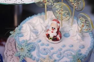 Торт на Новый год с дедом Морозом