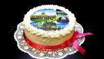 торт с лого